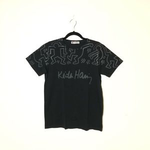 KEITH HARING Black T-Shirt Size L